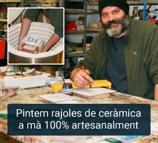 Rajoles de ceràmica pintades a mà 100 artesanalment