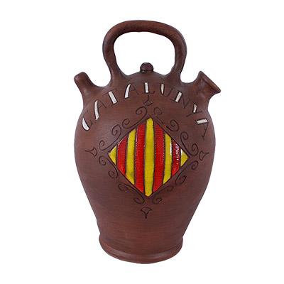 Càntir de ceràmica amb escut Català