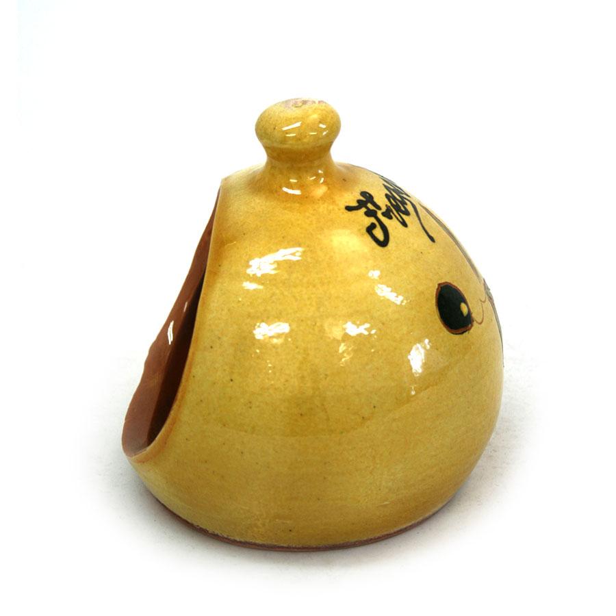 Vista lateral 2 del pot per a fregalls de ceràmica