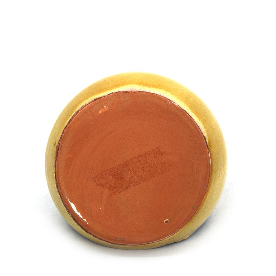 Vista inferior del pot per a fregalls de ceràmica