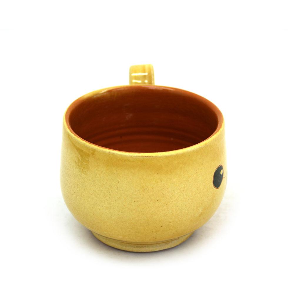 Vista lateral 1 de la tassa ampla de ceràmica