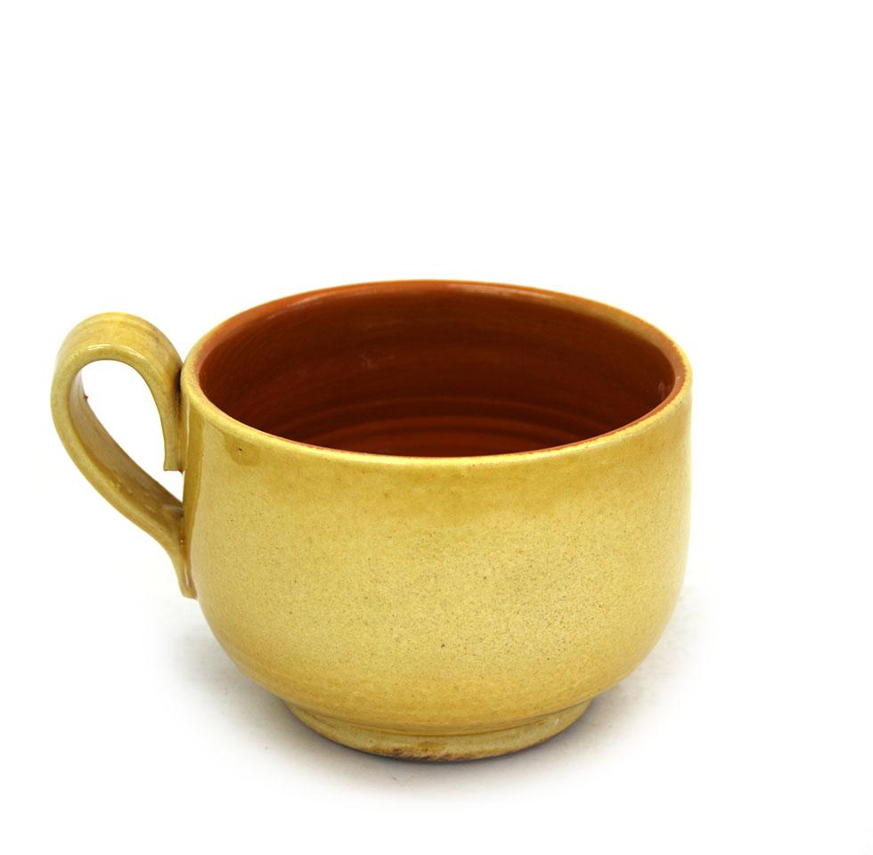 Vista posterior de la tassa ampla de ceràmica