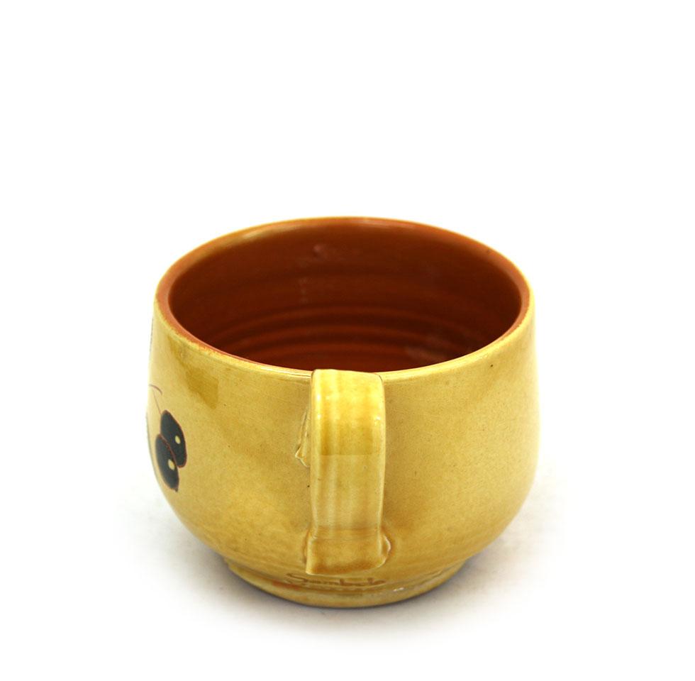 Vista lateral 2 de la tassa ampla de ceràmica