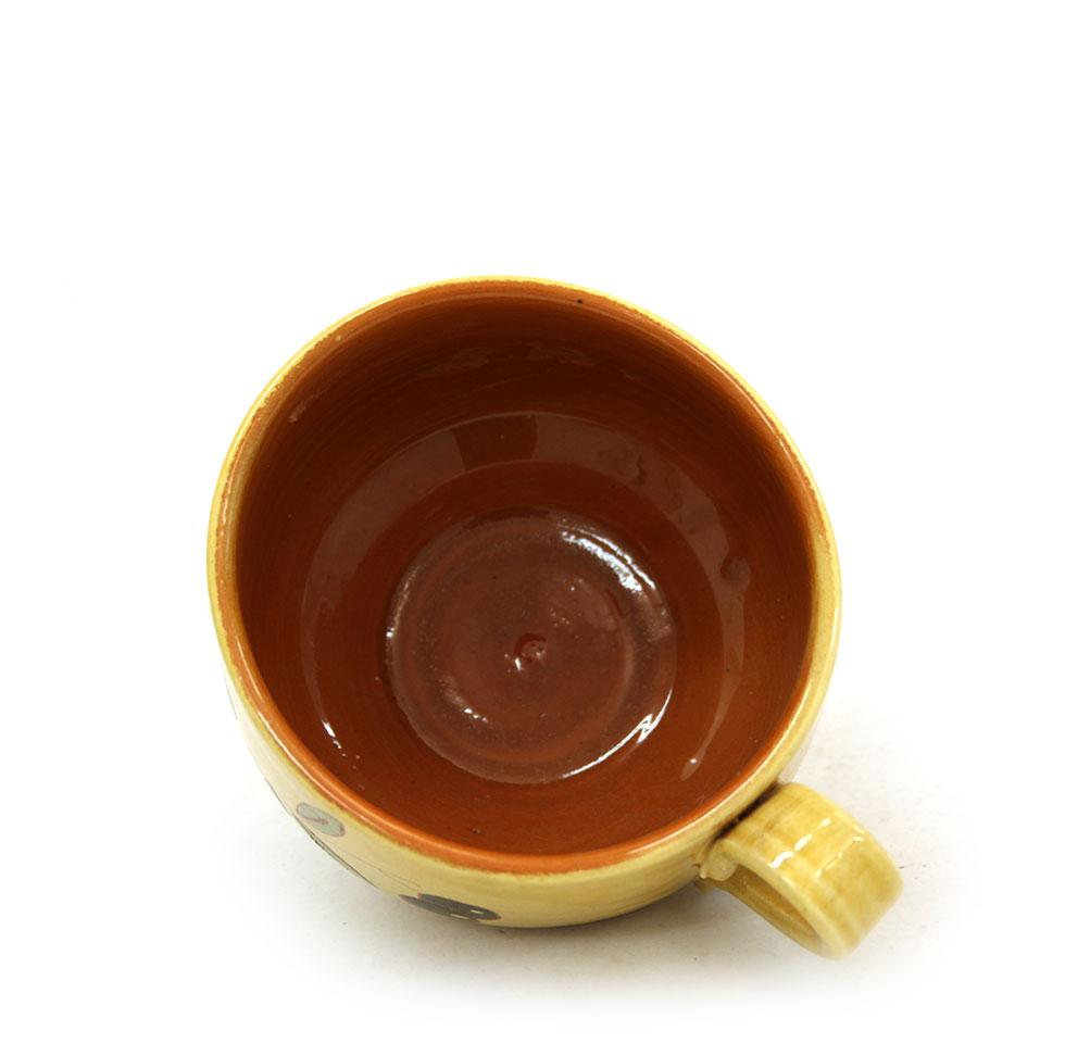 Vista superior de la tassa ampla de ceràmica