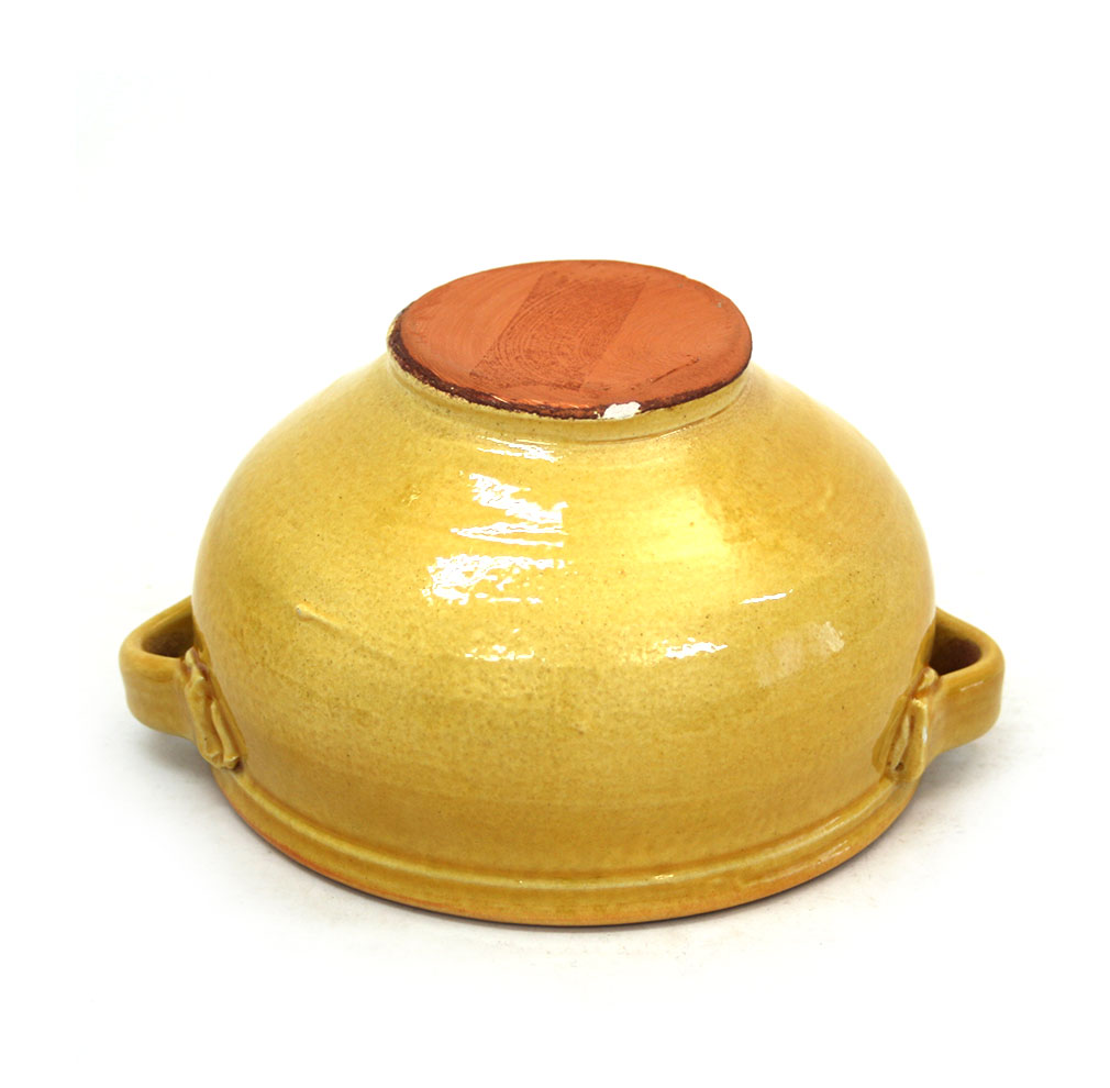 Vista superior de la sopera de ceràmica