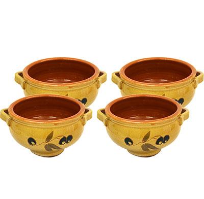 4 Soperes individuals de ceràmica