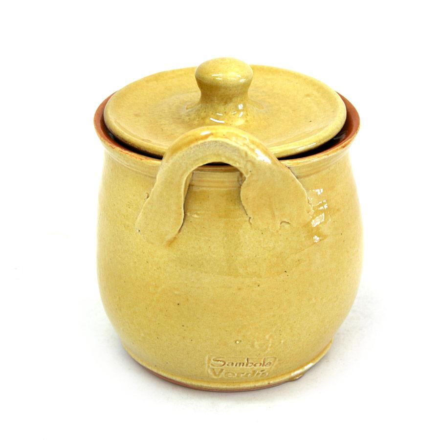 Vista posterior del saler de ceràmica