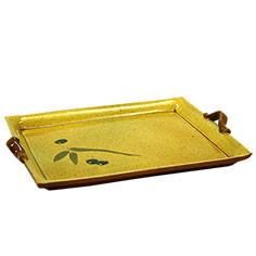 Plata rectangular de ceràmica