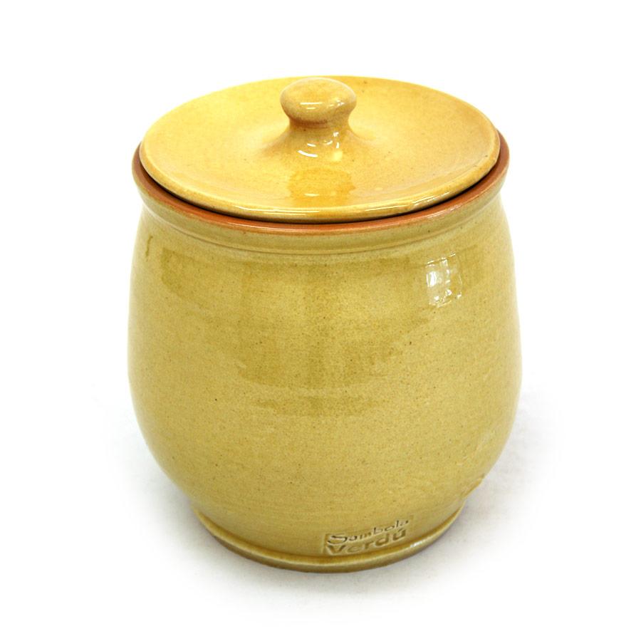 Vista posterior de la sucrera de ceràmica
