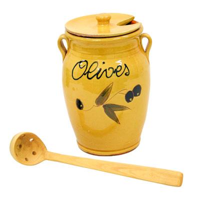 Pot per a olives de ceràmica + cullerer