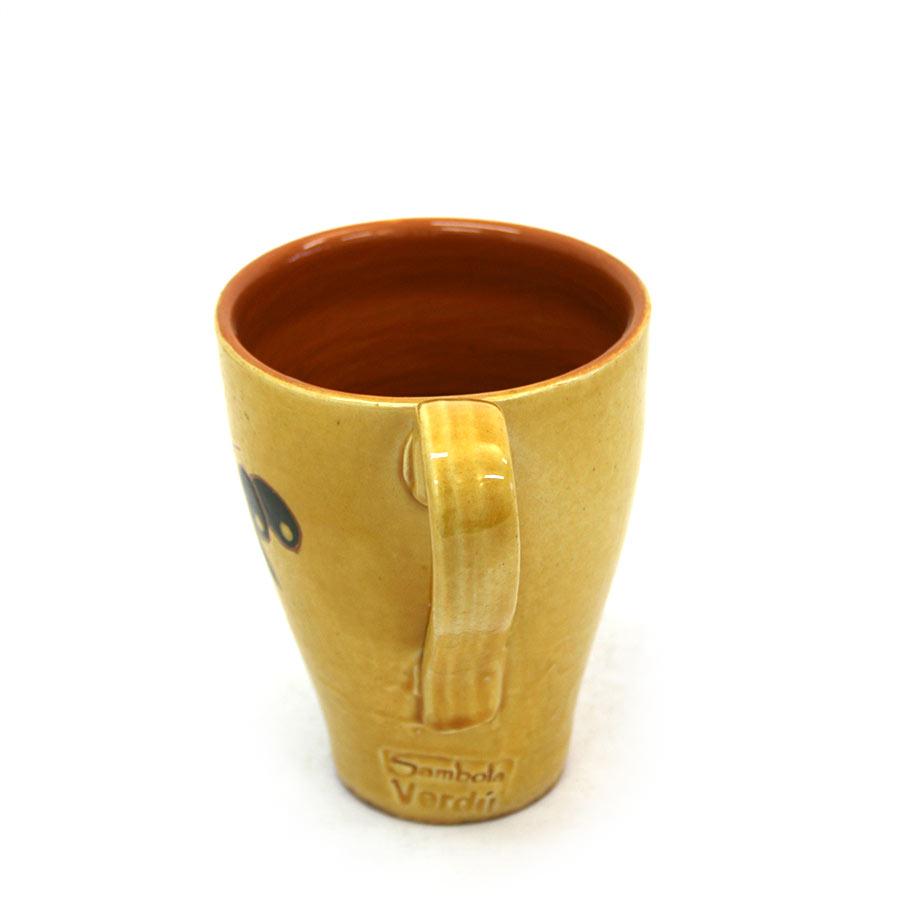 Vista lateral 2 de la tassa de ceràmica