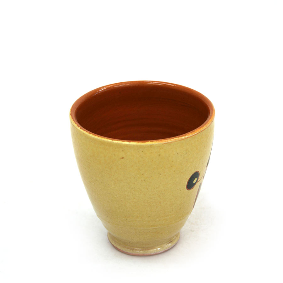 Vista lateral 1 del vas de ceràmica
