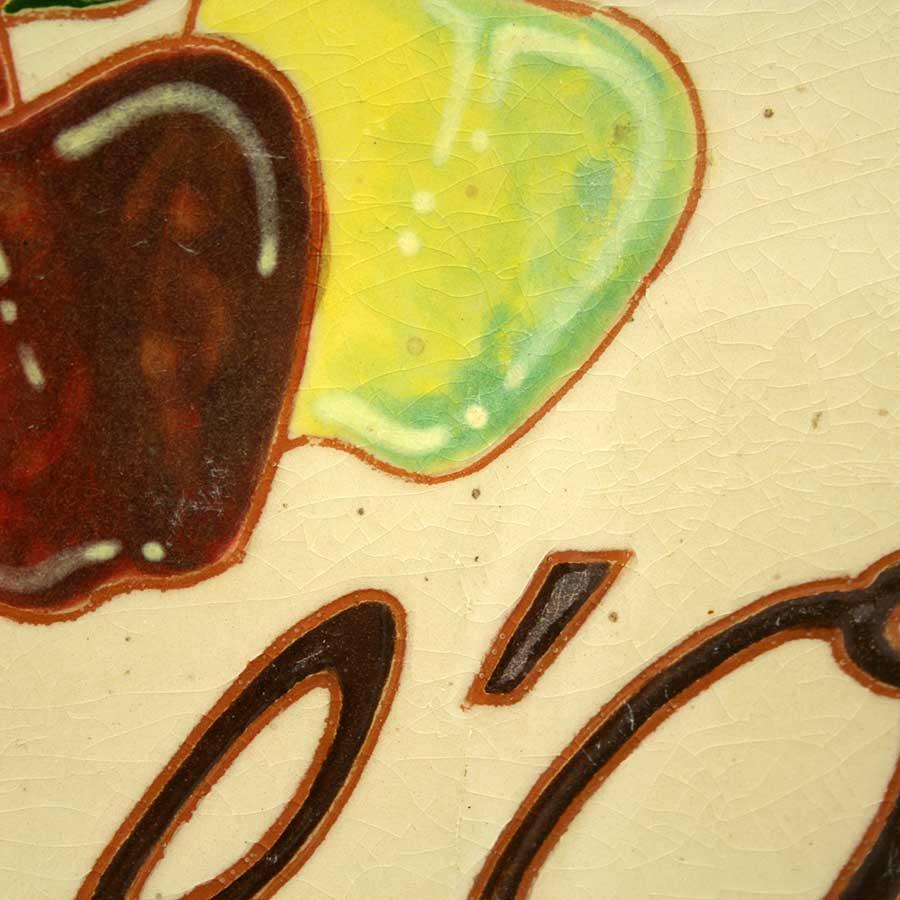 Detall del rètol pintat a mà