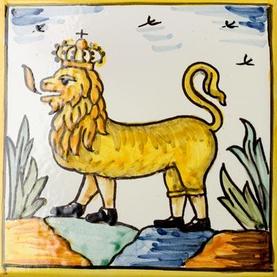 Rajola amb Lleó Reial