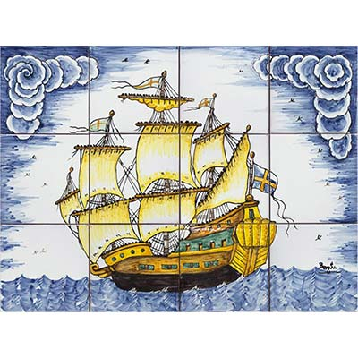 Mural amb Vaixell