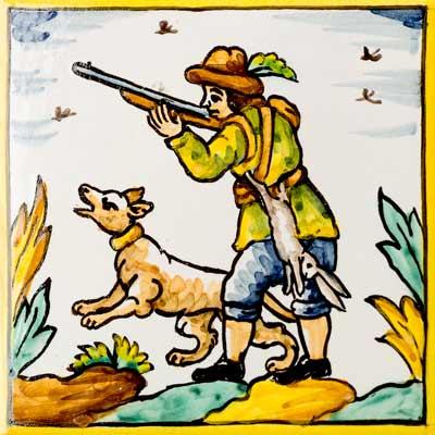 Rajola amb Caçador amb conill