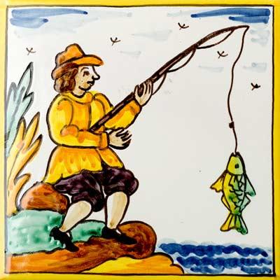 Rajola amb Pescador assegut