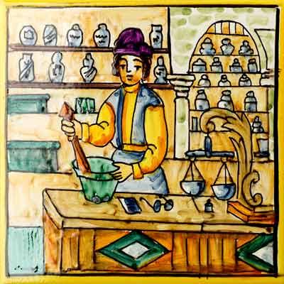 Rajola amb Farmacèutic clàssic