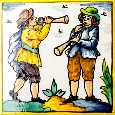 Rajola amb Flautistes
