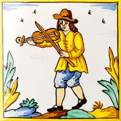 Rajola amb Violinista