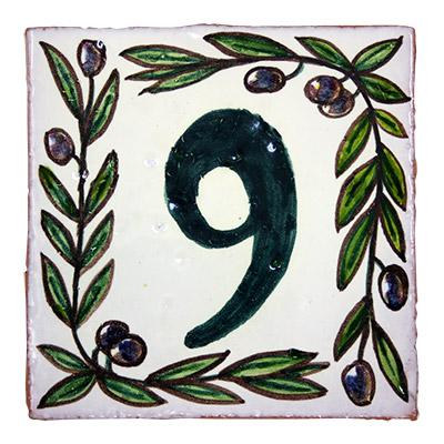 Número de ceràmica rustic