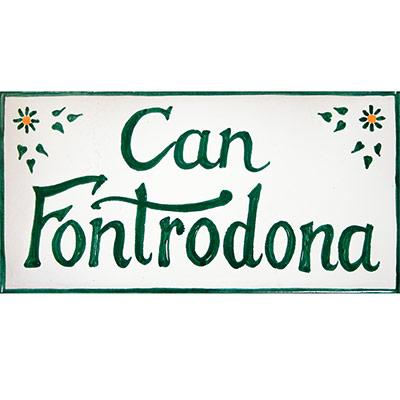 Rètol amb Can Fontrodona