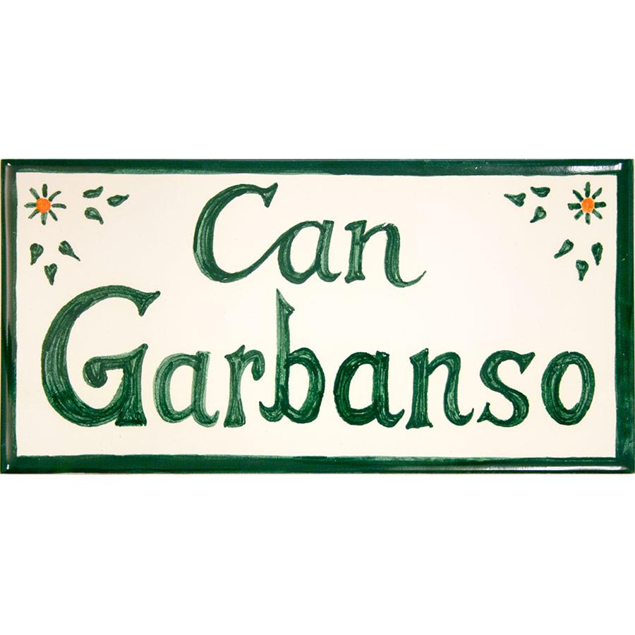 Rajola ceràmica amb 'Can Garbanso'
