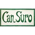 Rètol de ceràmica amb 'Can Suro'