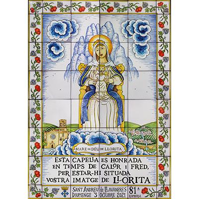 Mural amb Mare de Déu de Llorita