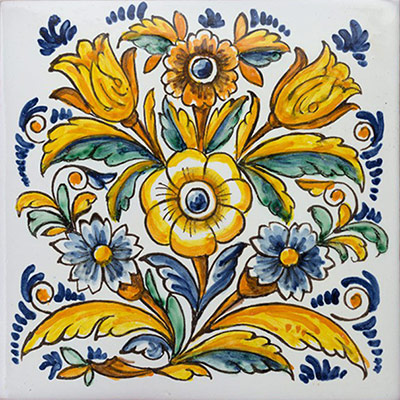 Rajoles amb motius de flors