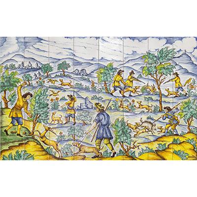 Murals grans amb paisatges de caçadors