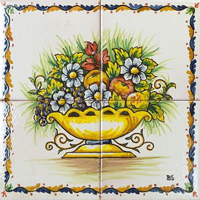 Murals amb motius de flors