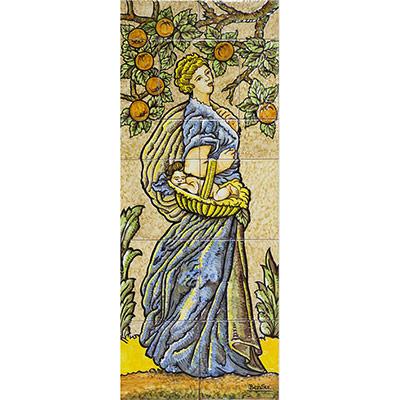 Pilastres amb dones d'estil Modernista