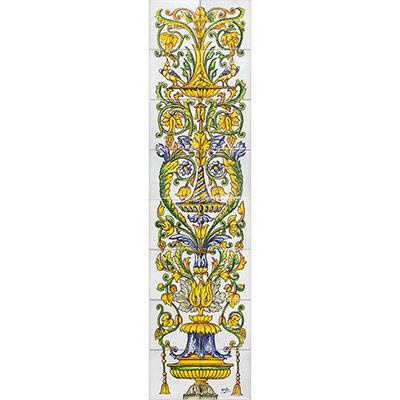 Pilastra amb motius florals