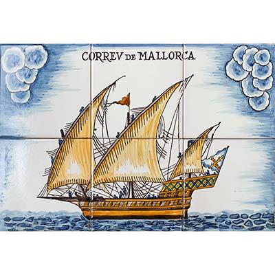 Mural amb el Correu de Mallorca