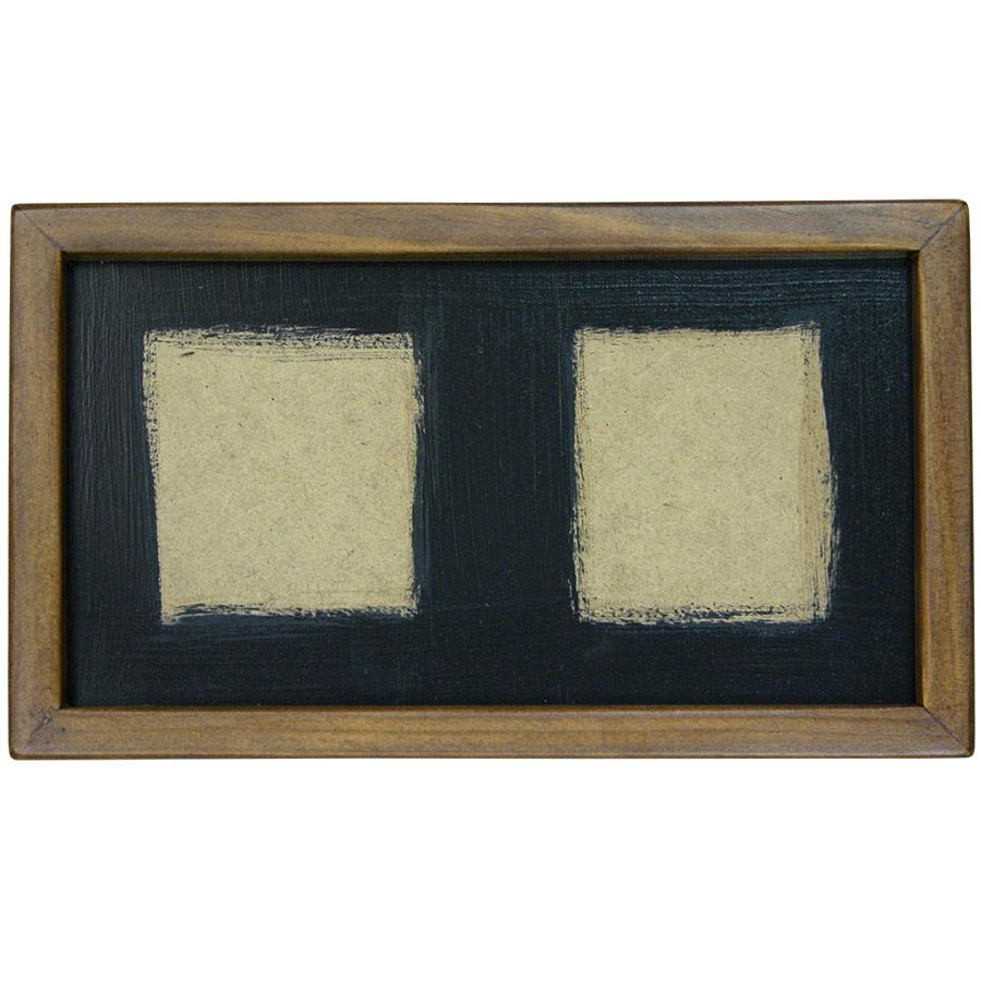 Marc prim de fusta rectangular per a dos rajoles de 15x15cm