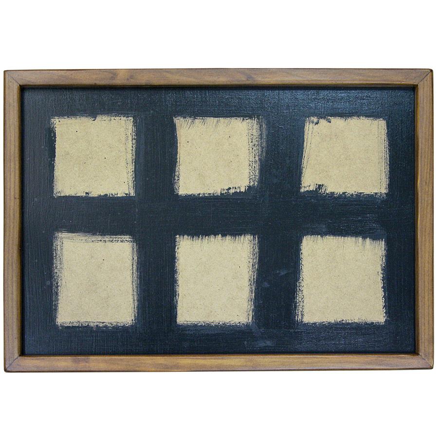 Marc prim de fusta per a composició de 6 rajoles de 15x15cm