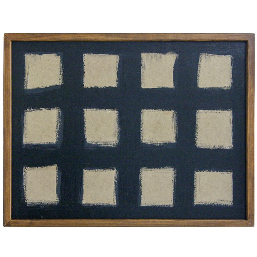 Marc prim de fusta per a composició de 12 rajoles de 15x15cm