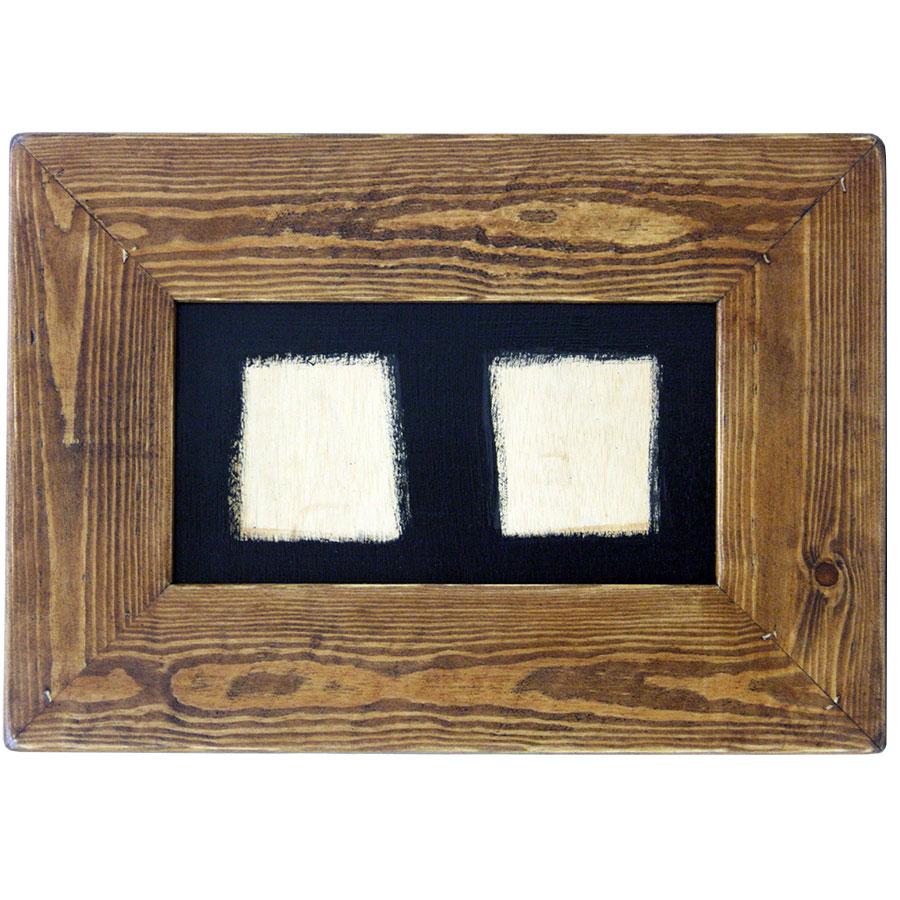 Marc ample de fusta rectangular per a dos rajoles de 15x15cm