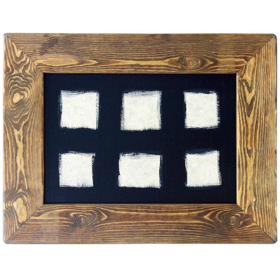 Marc ample de fusta per a composició de 6 rajoles de 15x15cm
