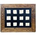 Marc ample de fusta per a composició de 12 rajoles de 15x15cm