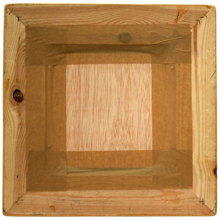 Darrera del mirall de fusta natural