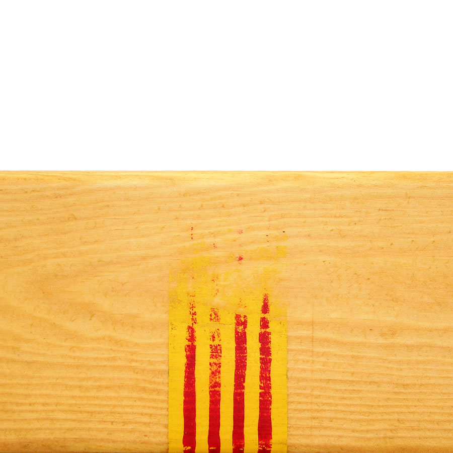 Detall de la senyera pintada a mà