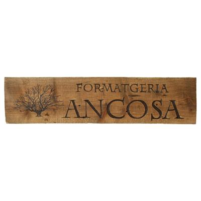 Rètol de fusta - Formatgeria ANCOSA