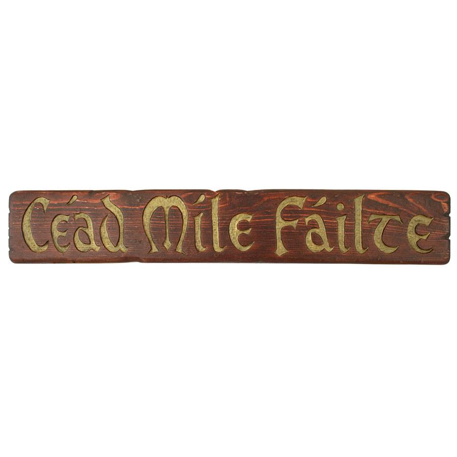 Rètol de fusta - Céad Míle Fáilte