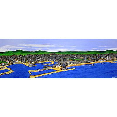 Quadre amb el Port de Barcelona