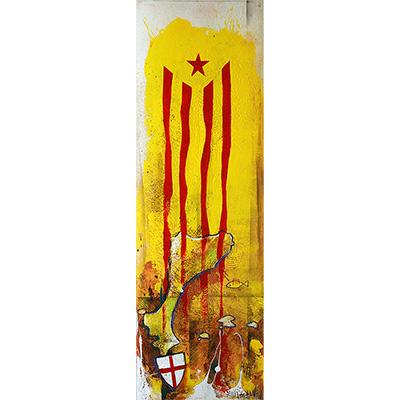 Estelada, Països Catalans i escut St. Jordi