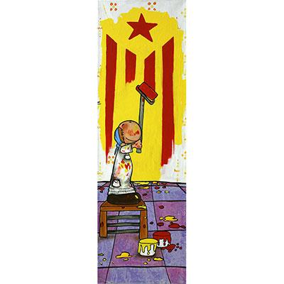 Quadre amb nen pintant estelada