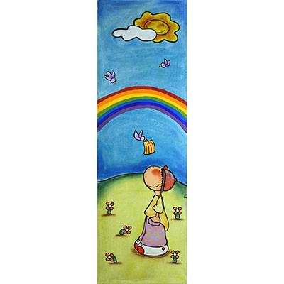 Quadre amb nen, ocell amb estelada i arc de St. Martí