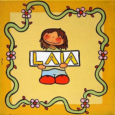 Quadre amb nena i nom 'Laia'